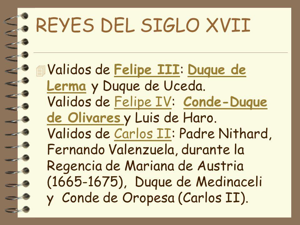 REYES DEL SIGLO XVII
