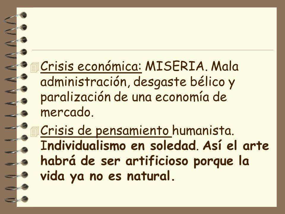 Crisis económica: MISERIA