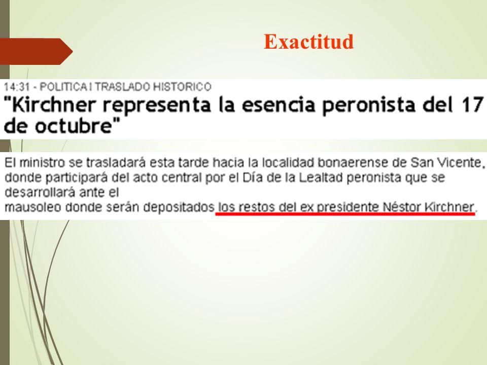Exactitud