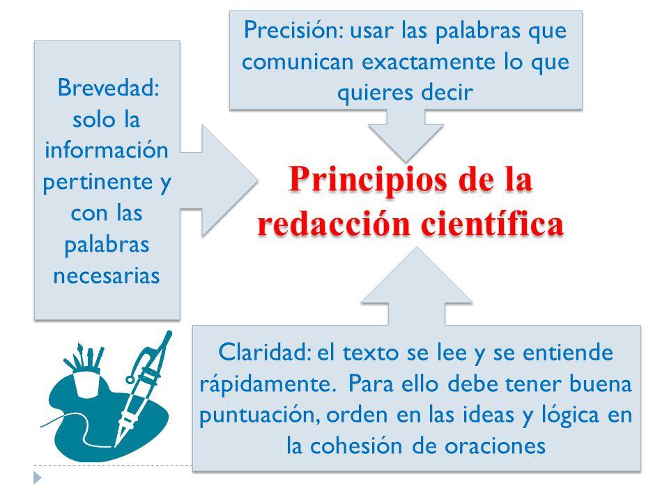 Principios de la redacción científica