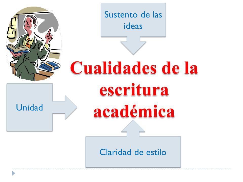 Cualidades de la escritura académica
