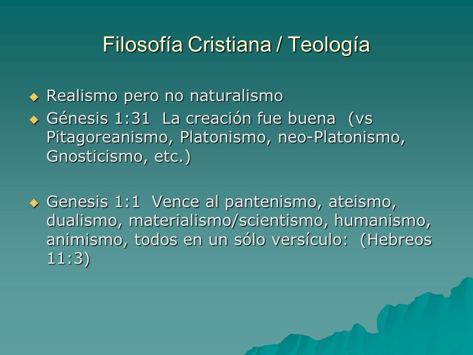 Filosofía Cristiana / Teología