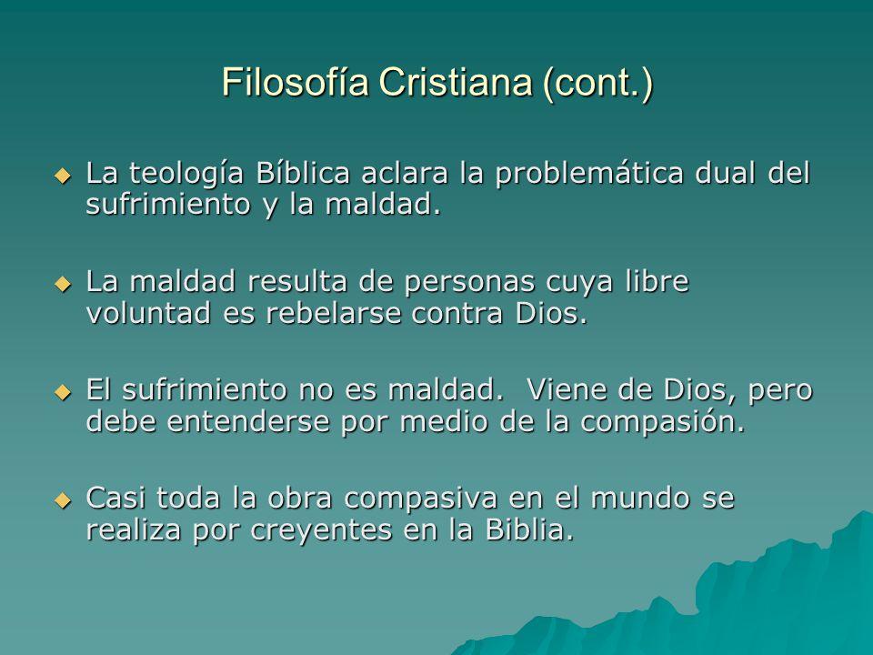 Filosofía Cristiana (cont.)