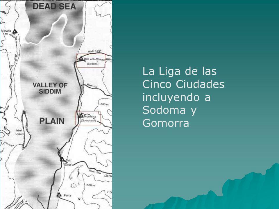 La Liga de las Cinco Ciudades incluyendo a Sodoma y Gomorra