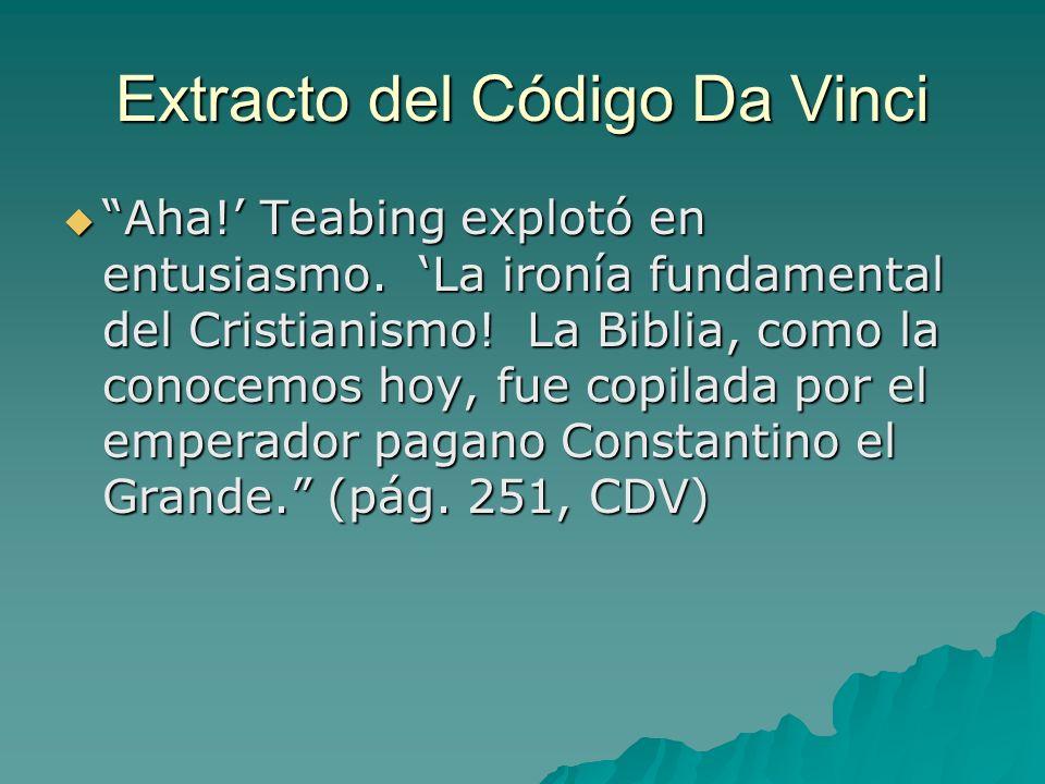 Extracto del Código Da Vinci
