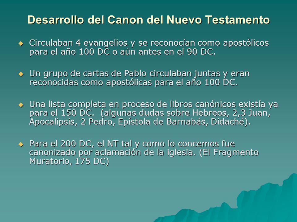 Desarrollo del Canon del Nuevo Testamento
