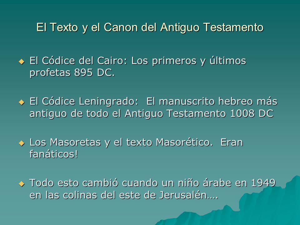 El Texto y el Canon del Antiguo Testamento