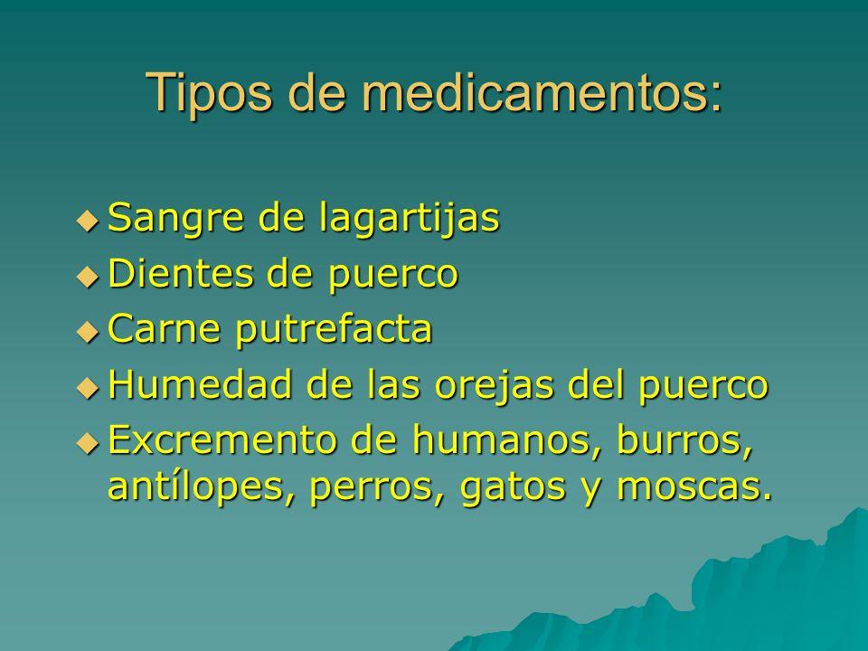 Tipos de medicamentos: