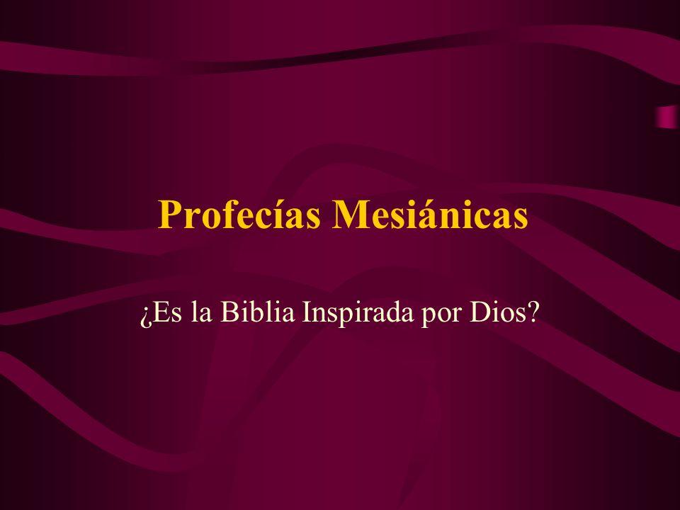 ¿Es la Biblia Inspirada por Dios