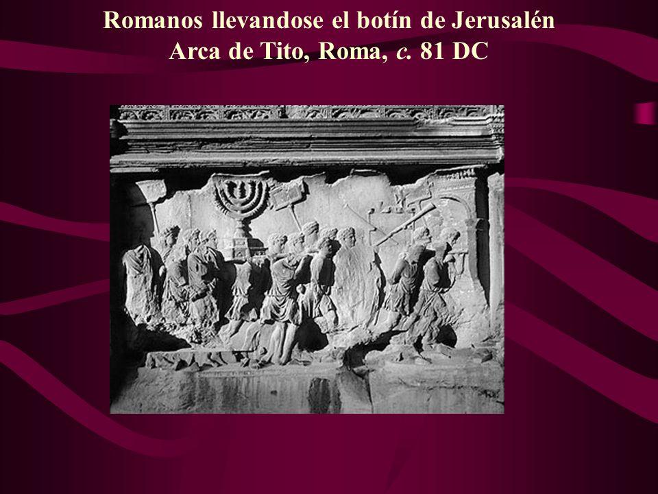 Romanos llevandose el botín de Jerusalén