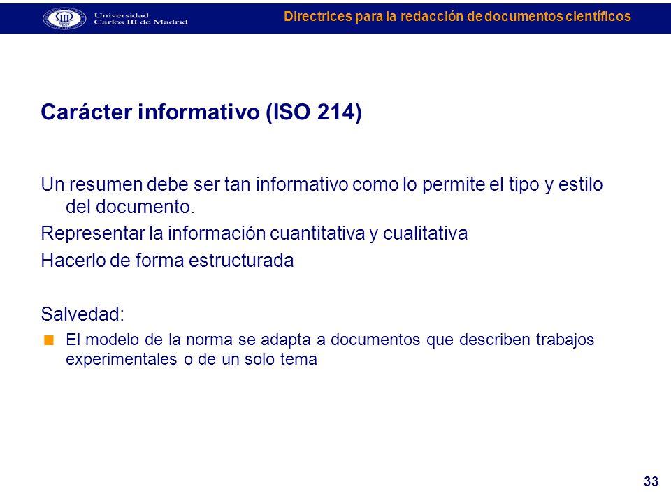 Carácter informativo (ISO 214)