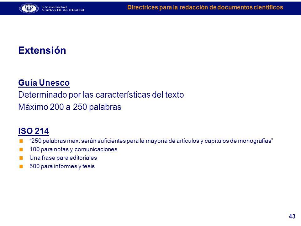 Extensión Guía Unesco Determinado por las características del texto