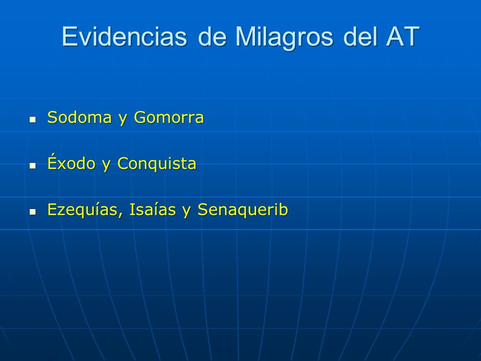 Evidencias de Milagros del AT