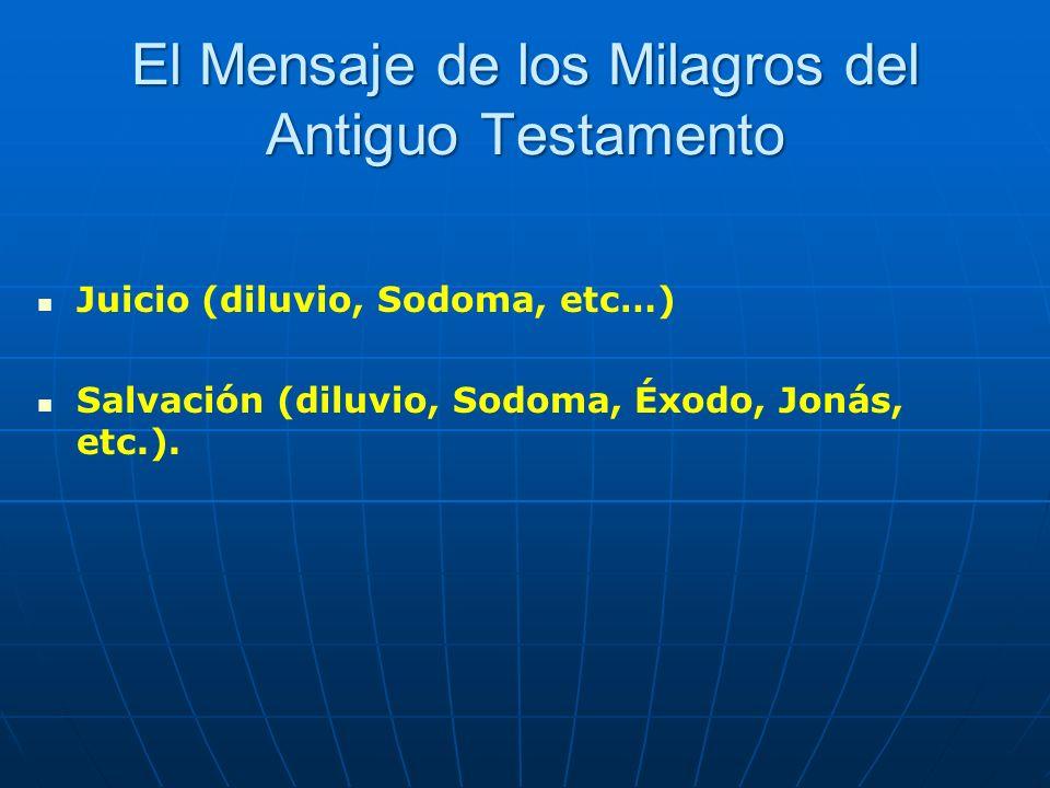 El Mensaje de los Milagros del Antiguo Testamento