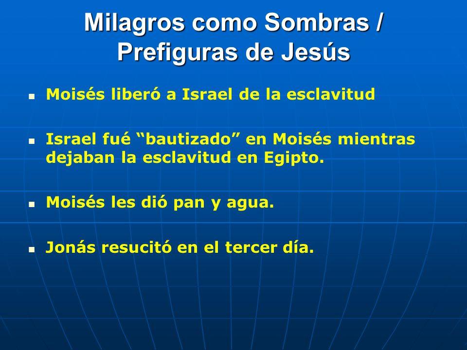 Milagros como Sombras / Prefiguras de Jesús