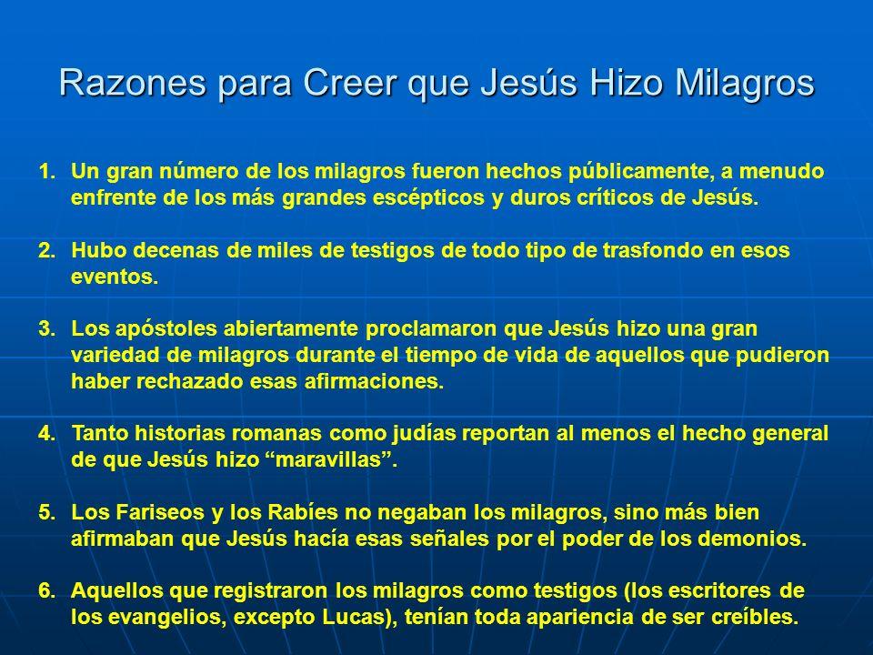 Razones para Creer que Jesús Hizo Milagros