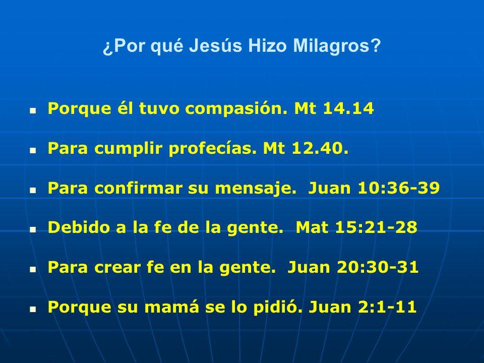 ¿Por qué Jesús Hizo Milagros