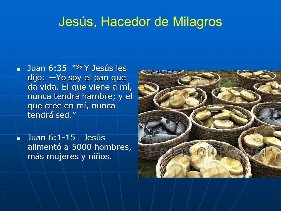 Jesús, Hacedor de Milagros