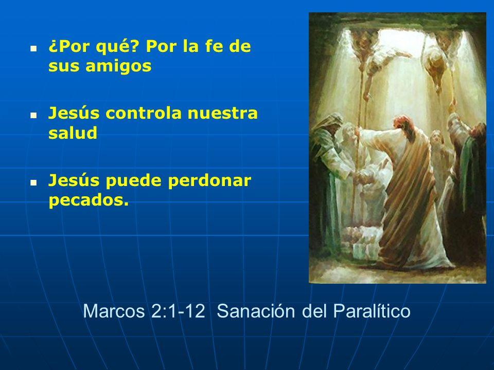 Marcos 2:1-12 Sanación del Paralítico