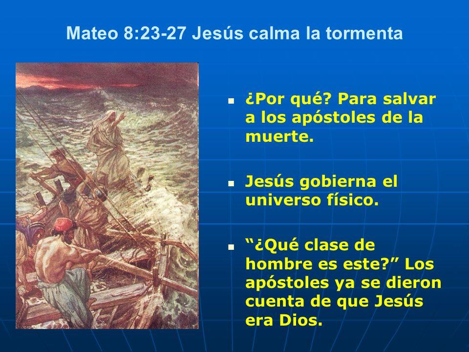 Mateo 8:23-27 Jesús calma la tormenta