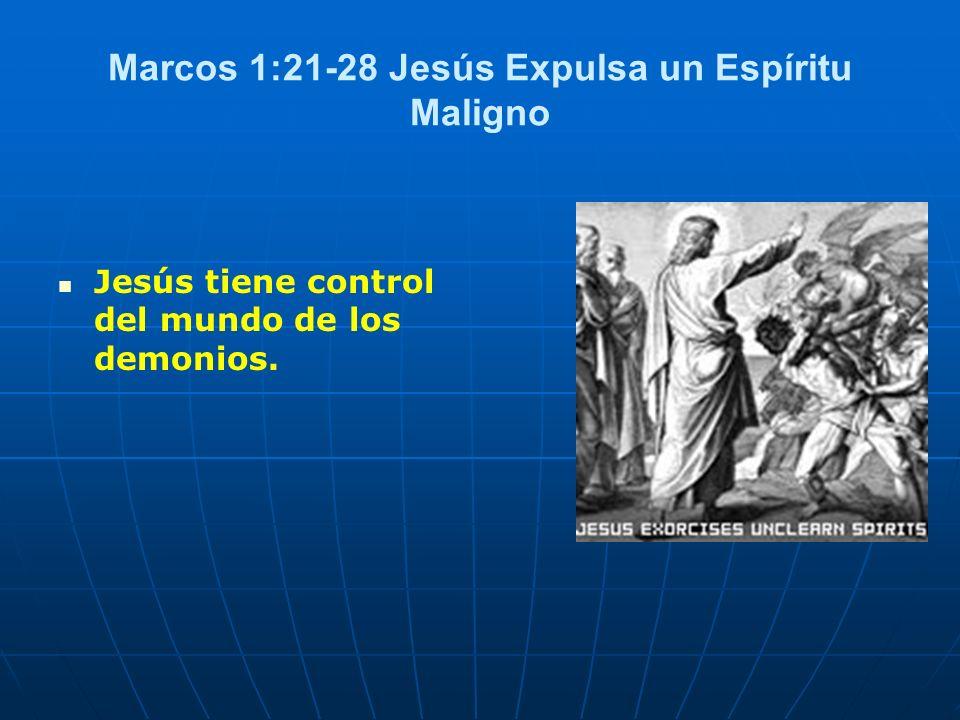 Marcos 1:21-28 Jesús Expulsa un Espíritu Maligno