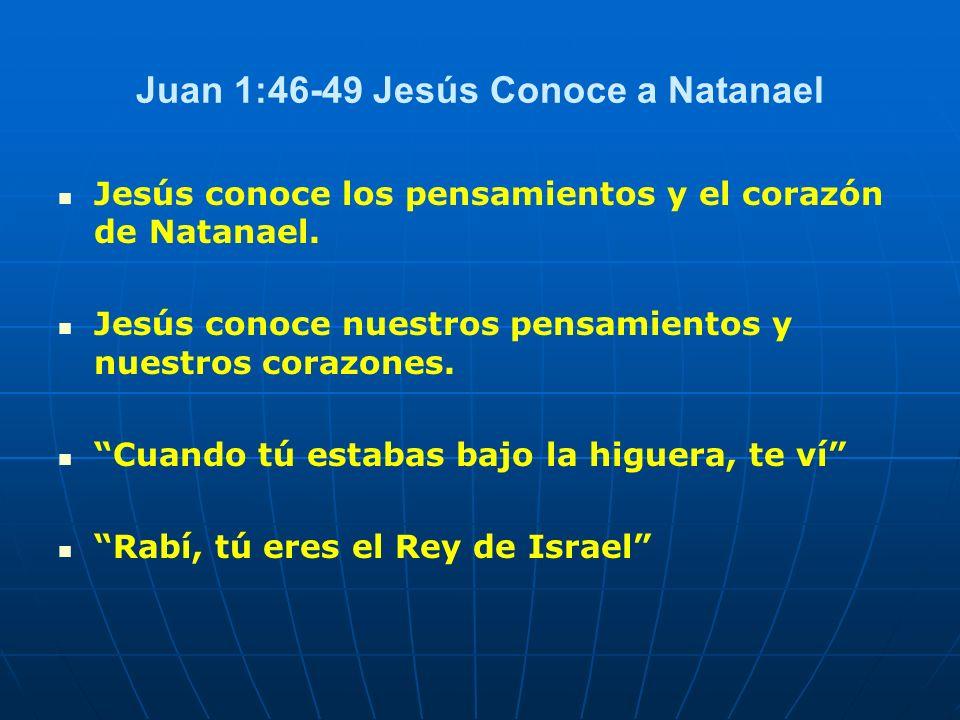 Juan 1:46-49 Jesús Conoce a Natanael
