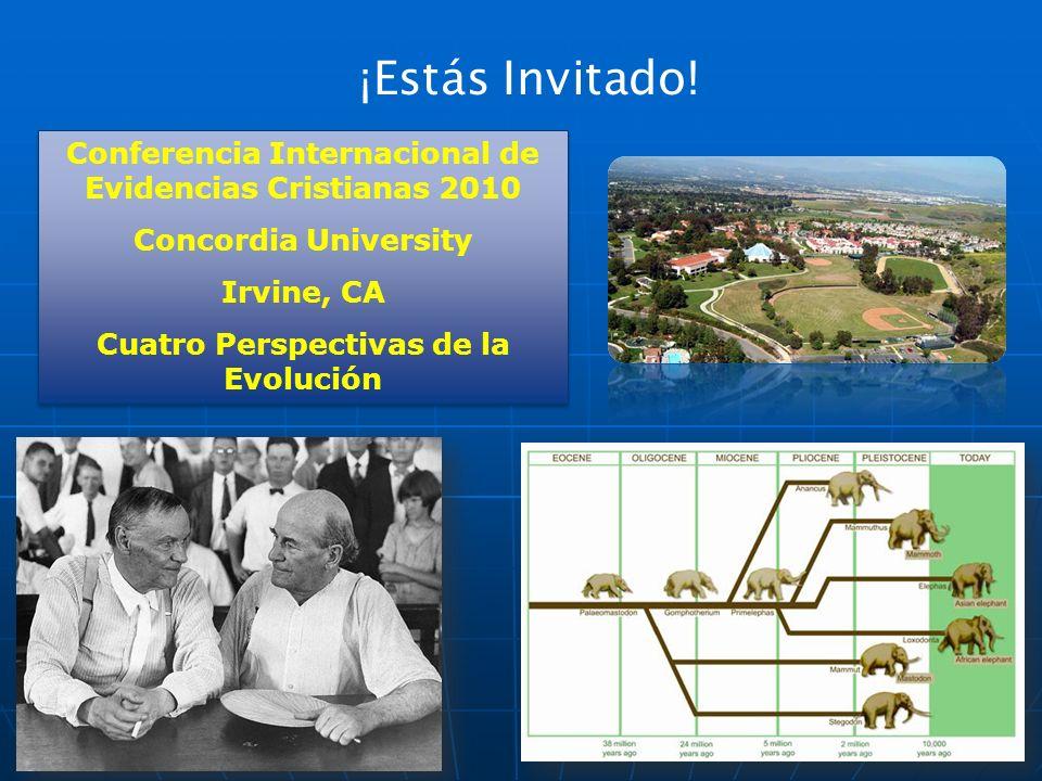 ¡Estás Invitado! Conferencia Internacional de Evidencias Cristianas 2010. Concordia University. Irvine, CA.