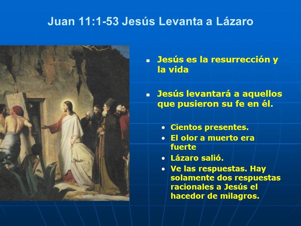 Juan 11:1-53 Jesús Levanta a Lázaro