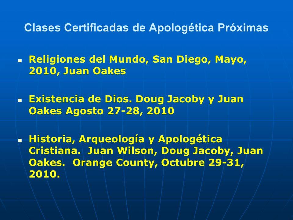 Clases Certificadas de Apologética Próximas
