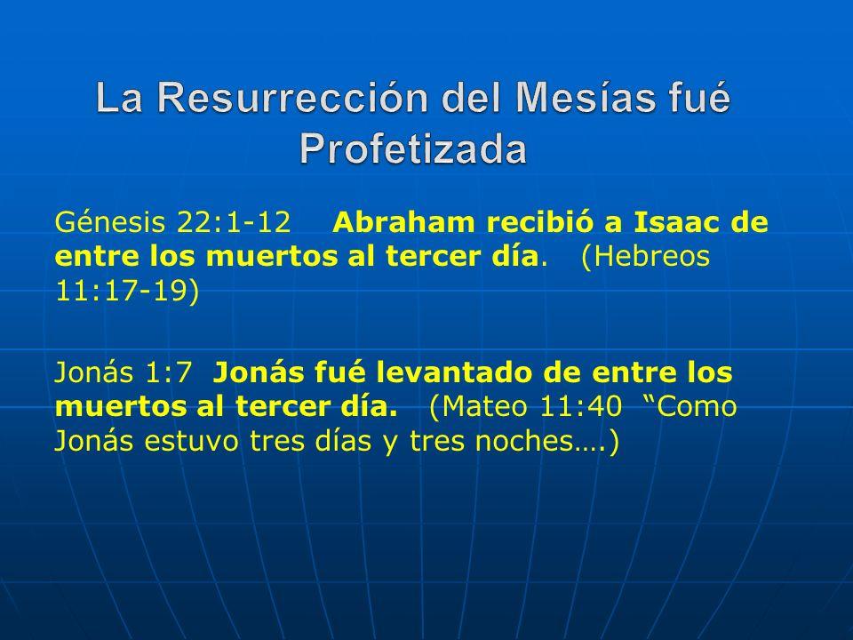 La Resurrección del Mesías fué Profetizada