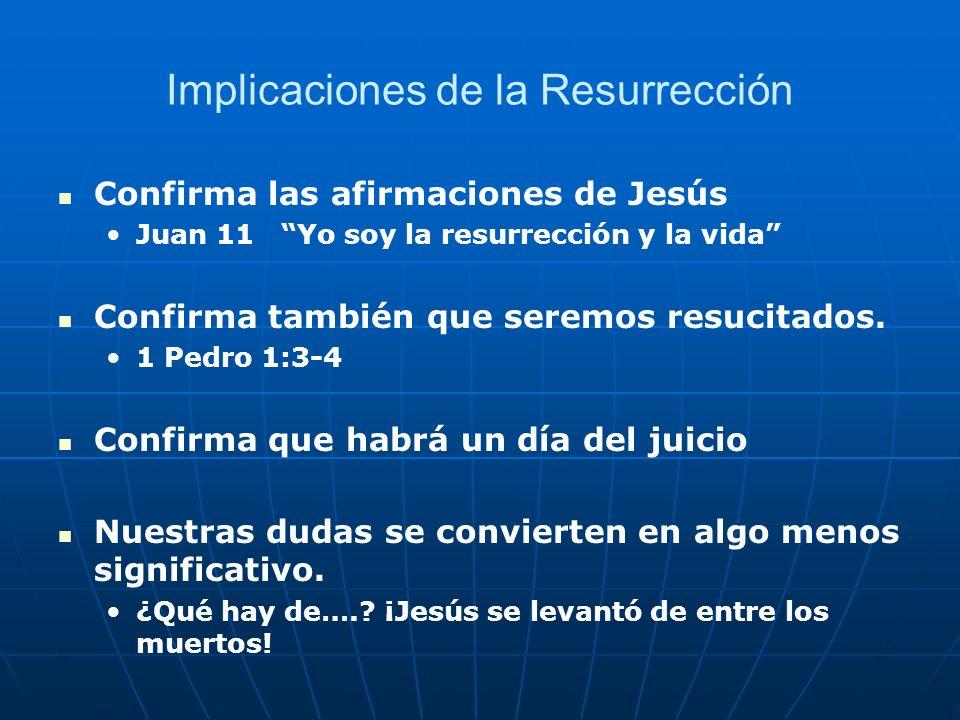 Implicaciones de la Resurrección