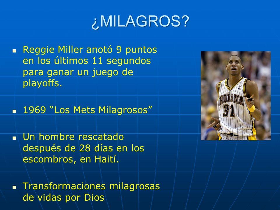 ¿MILAGROS Reggie Miller anotó 9 puntos en los últimos 11 segundos para ganar un juego de playoffs.