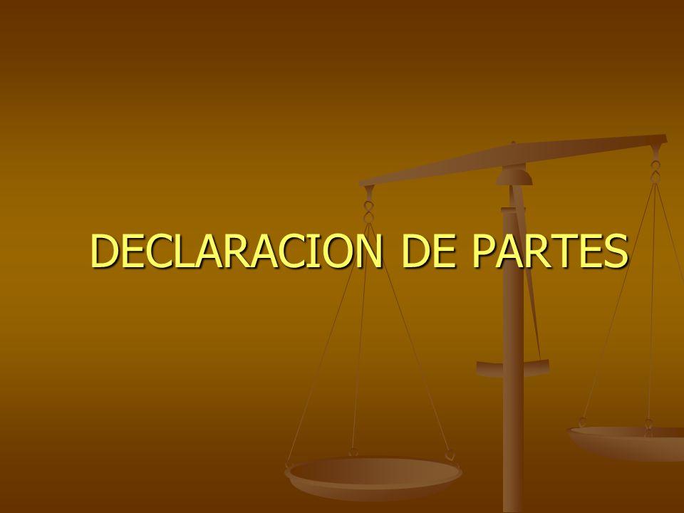 DECLARACION DE PARTES