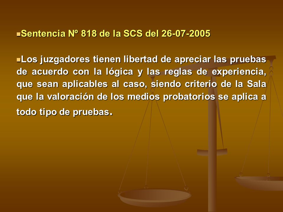 Sentencia Nº 818 de la SCS del 26-07-2005