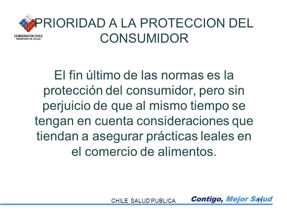 PRIORIDAD A LA PROTECCION DEL CONSUMIDOR