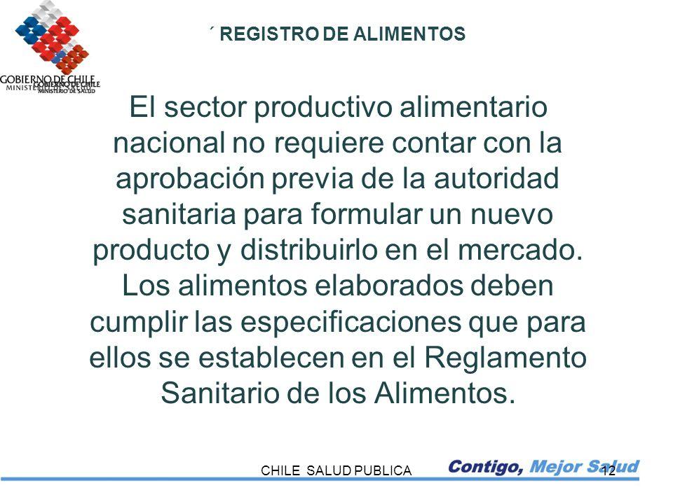 ´ REGISTRO DE ALIMENTOS
