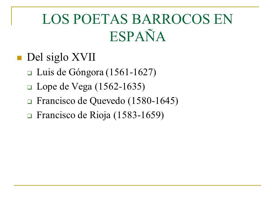 LOS POETAS BARROCOS EN ESPAÑA