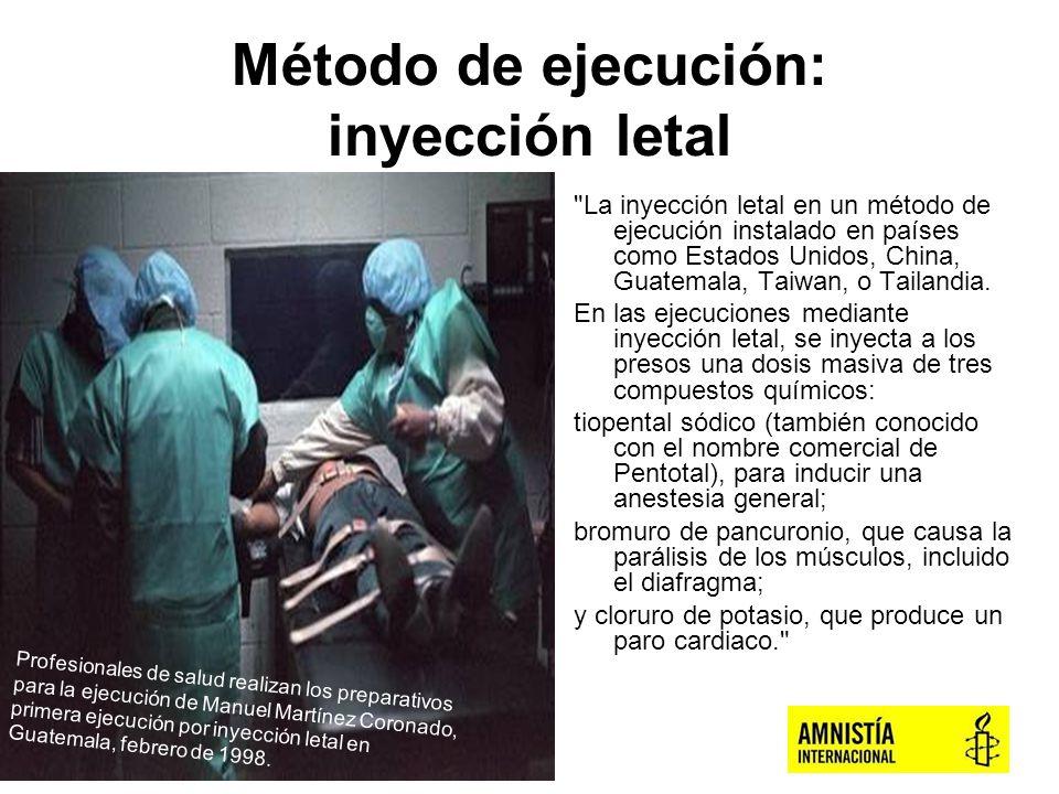 Método de ejecución: inyección letal