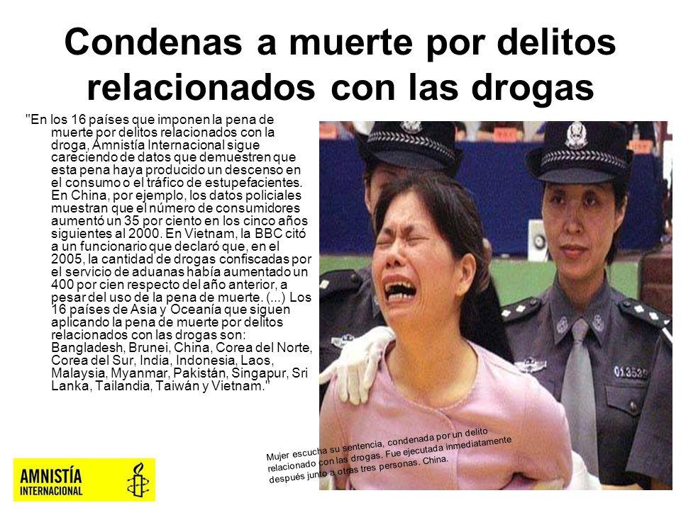 Condenas a muerte por delitos relacionados con las drogas