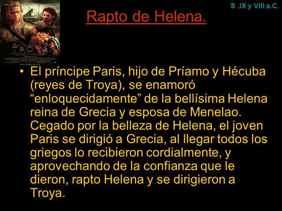Rapto de Helena. S .IX y VIII a.C.
