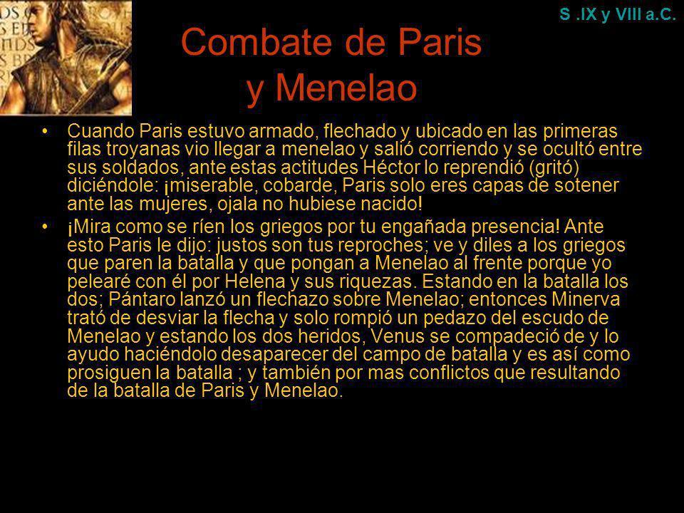 Combate de Paris y Menelao