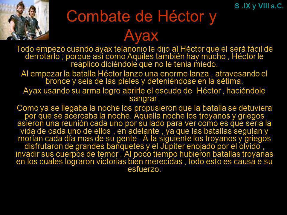 Combate de Héctor y Ayax
