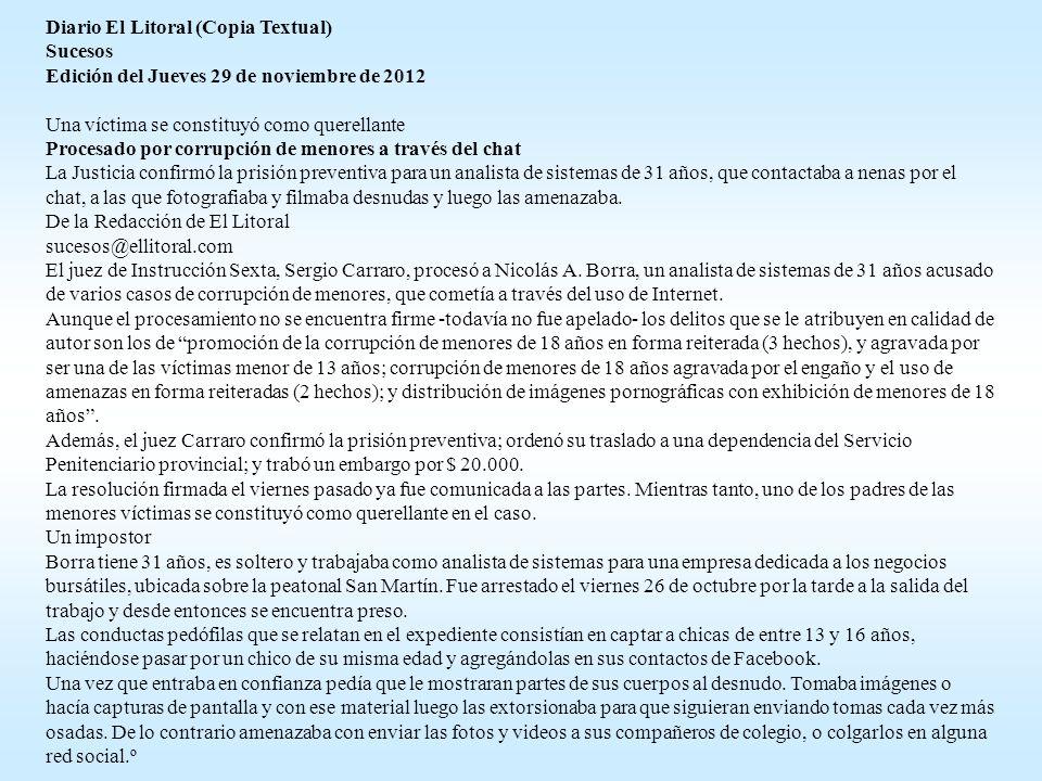 Diario El Litoral (Copia Textual)