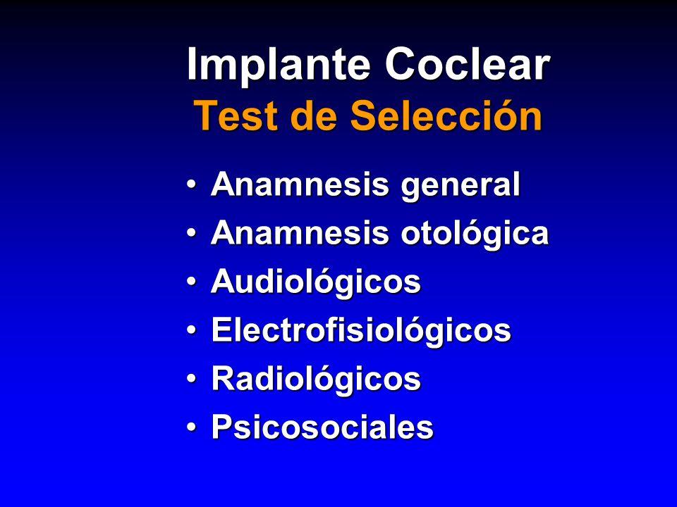 Implante Coclear Test de Selección