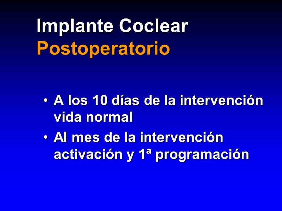 Implante Coclear Postoperatorio