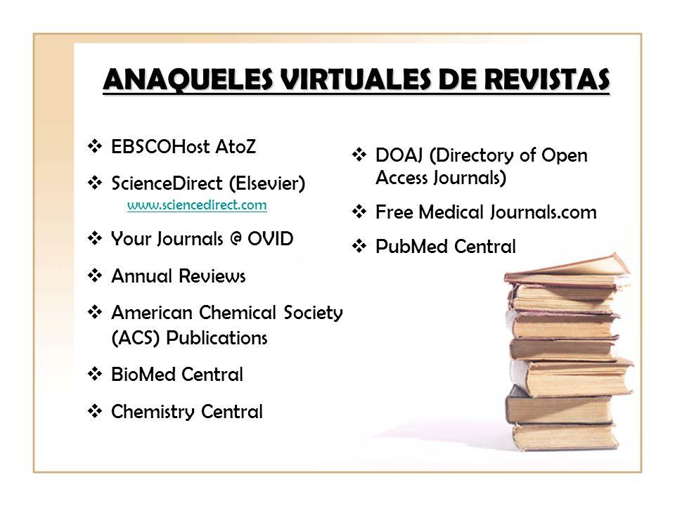 ANAQUELES VIRTUALES DE REVISTAS