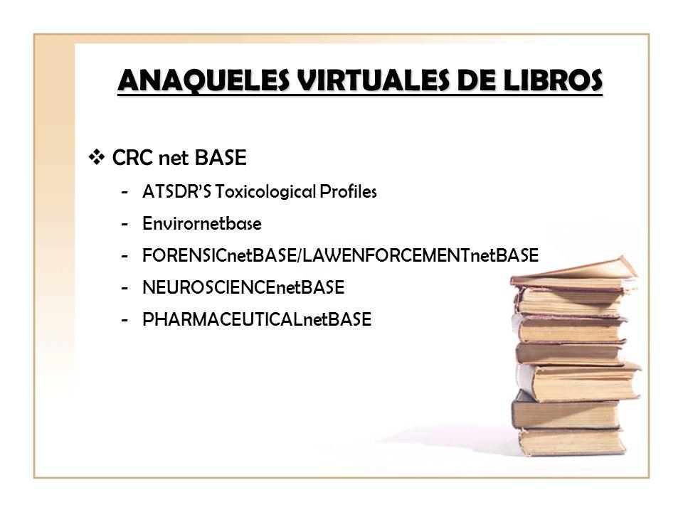 ANAQUELES VIRTUALES DE LIBROS