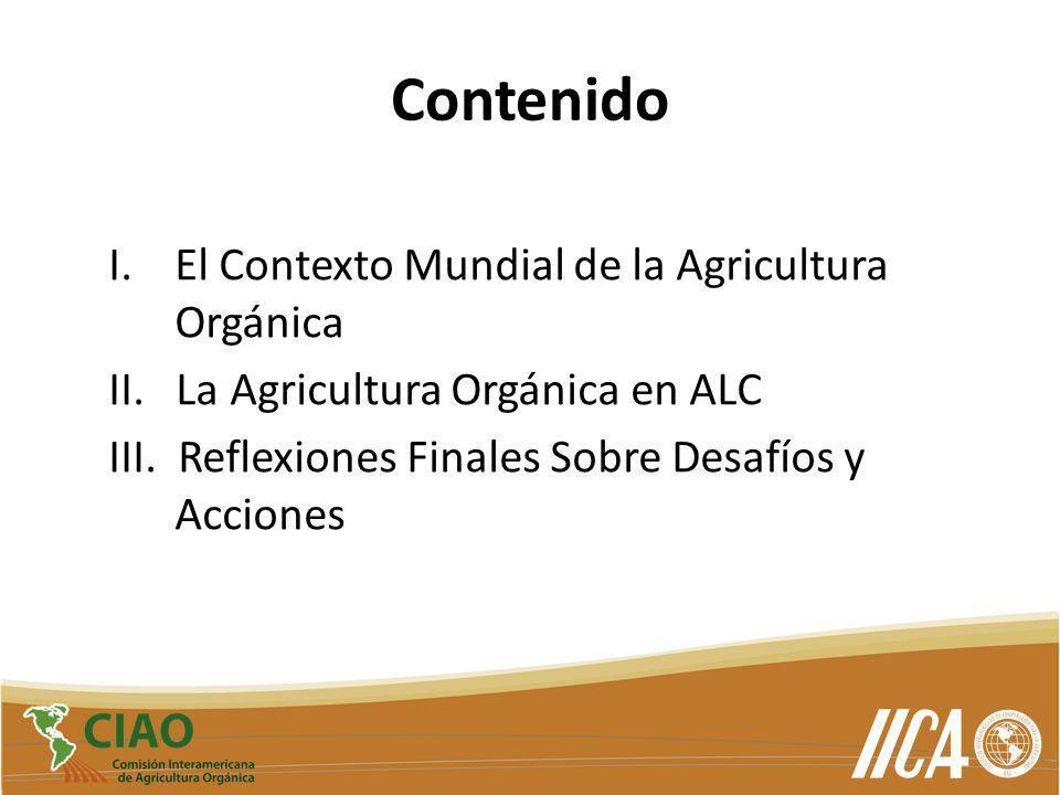 Contenido El Contexto Mundial de la Agricultura Orgánica