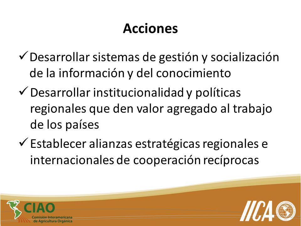 Acciones Desarrollar sistemas de gestión y socialización de la información y del conocimiento.