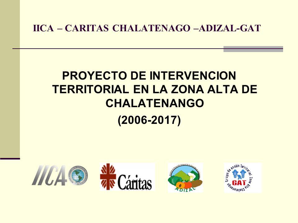 IICA – CARITAS CHALATENAGO –ADIZAL-GAT